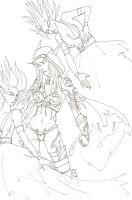 Sylvanas Lineart by LaudyLau