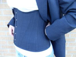 Corset from Man's suit by Justenjoyinglife