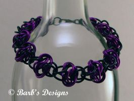 Full Persion Ladder Chainmaille Bracelet In Purple by Barbsdesigns