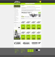 E-commerce Template Design by thatpaperfox