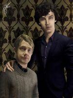 Holmes and Watson by StarWarsQueen