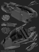 space ship concepts by chiaroscuro