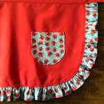 Red Rosey Apron by pinkythepink