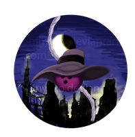 Bowling Ball Darkwing Button by Shinyako