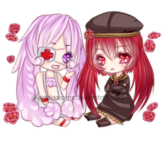 Com: Mikan and Pop by silvytea