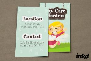Graphic Daycare Business Card by inkddesign