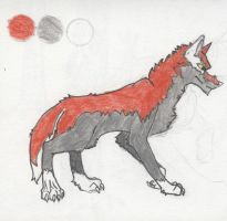 wolf red and grey by Swiftlook