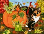 Calico's Mystical Pumpkin by tigerpixieart