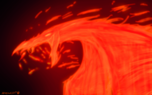 fire dragon by garasnegras
