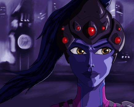 Ah, je te vois - Widowmaker Fanart by ChipstickzNom