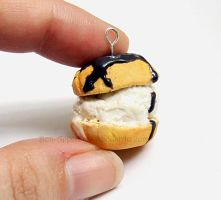 Ice Cream Cream Puff Charm by Bon-AppetEats
