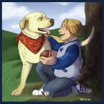 Boy and Dog by NuisanceBearEull