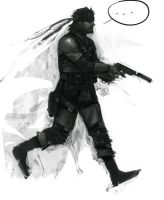 Solid Snake greyscale thingy by Edge-01