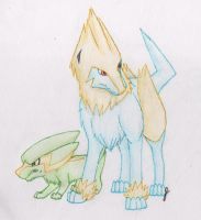 Electrike and Manectric by FirionRoseII