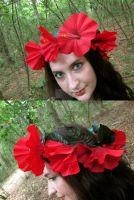 Poppy Dancer Floral Crown by ValkyrieOfODIN