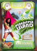 Pineapple Island Summer Flyer Template by mrwooo