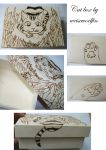 Pyrography Stalking Cat Box by weisewoelfin