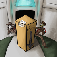 A Human-sized Package! by YourMeltedCrayons