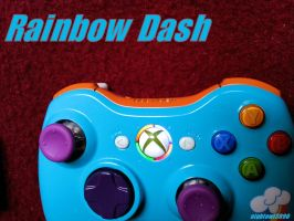 Rainbow Dash Xbox 360 Controller by Nightowl3090