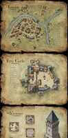 Set of fantasy maps by MaximePLASSE