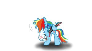 Rockin' Rainbow Dash by Ceehoff