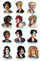 bunch of portraits by starsandpolkadots
