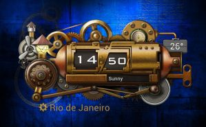 Steampunk Train Clock HD for xwidget by jimking