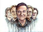 Robin Williams Tribute Painting by EmilyStepp