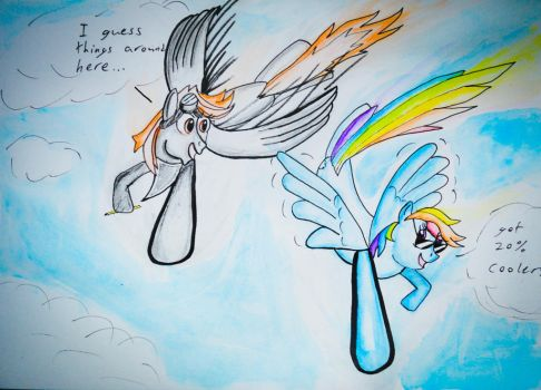 Contest entry, Metis and Rainbow Dash by Broxmonkey