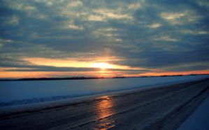 Sunset Road Reflection by Emariee08