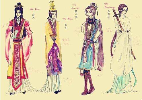 Traditional Chinese Attire Demo. (Male Vers.) by 0OBluubloodO0