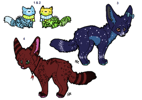 mixed point adoptables :CLOSED: Lower prices! by xRainbow-adoptsx