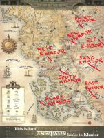 Map of Immoren by Fly-Dog