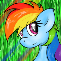 Rainbow Dash by flamevulture17