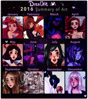2016 Summary of Art by Dreachie