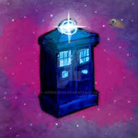 I just decided to draw the TARDIS by JonzoC2000