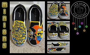 Minions Custom Slip ons by chimeraARTS