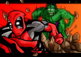 'Pool vs Hulk. Problem? by Cosmodious