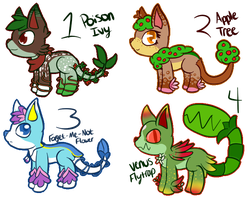 :Collab: Feline/Plant Hybrid Adoptables! by CollectionOfWhiskers