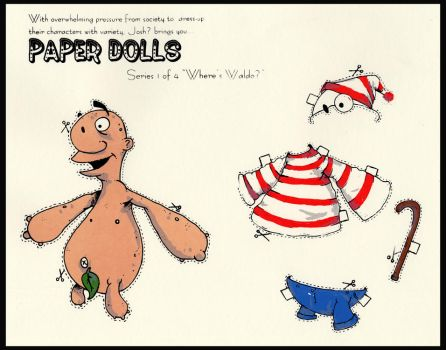 Paper Doll 'where's waldo?' by YourFathersMustache