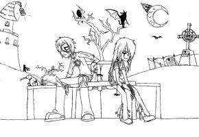 Two Bored Goths - Uncolored by Serkonus