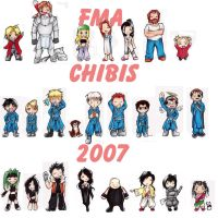 FMA chibis by choirfolk