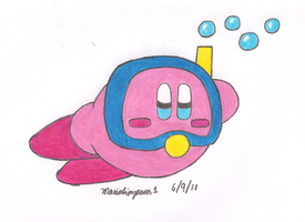 Snorkel Kirby by MarioSimpson1