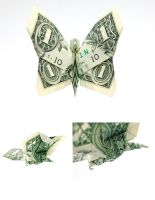 One Dollar Butterfly by orudorumagi11