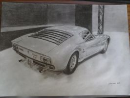 Lamborghini Miura SV Drawing by Rooivalk1