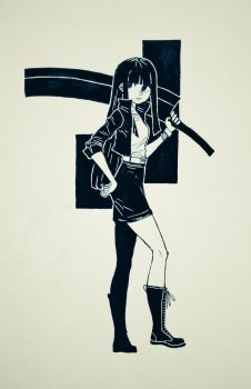 Girlwithsword by curatorEXatrum