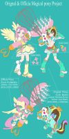 Magical mlp Fluttershy and RainbowBurst DesignTest by skyshek