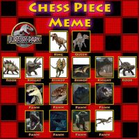 Jurassic Park Chess Piece Meme by TrefRex