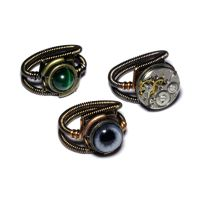 3 Steampunk Rings by CatherinetteRings