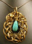Celtic Pendant with Turquoise by BacktoEarthCreations